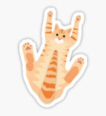 Pegatina Orange Cat with Cats tiene 18 dedos de los pies