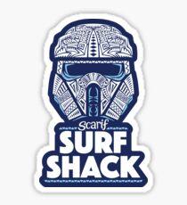Space Surf Shack Sticker