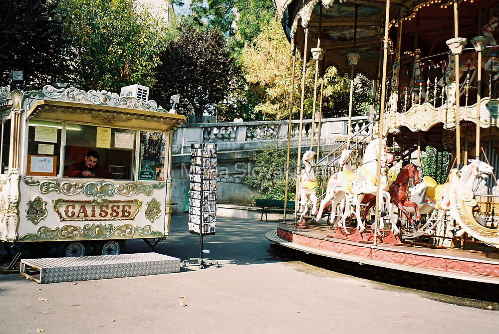 Merry-go-round time by Maria Slovakova