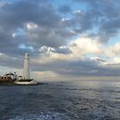 St Mary's Lighthouse at Sunset by Richard Winskill