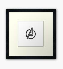 A - Logo Framed Print