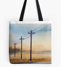 Misty Morning at Prophetstown Tote Bag