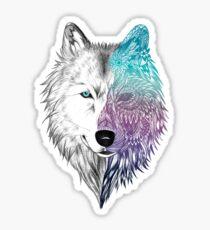 Wolf Mandala Sticker