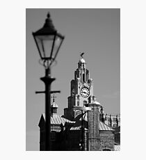 Liver Building in Black and White Photographic Print