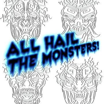 AHTM! Aztec Monster Totems by harveythekiller