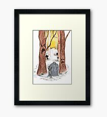 Oct 24 and 25 Creepy Trees and Graves Framed Print