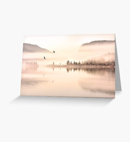 Across the clouds I see my shadow fly Greeting Card
