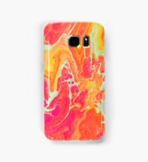 Neon Orange Pink Treat Samsung Galaxy Case/Skin