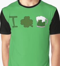 I Shamrock Beer Graphic T-Shirt