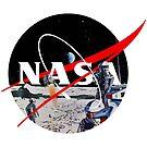 Nasa Logo Retro Futuristic Art by MarcoD