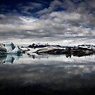 Jökulsárlón - Glacial Lake by Hjalti Hjartarson