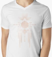 FLOWER OF LIFE - Rose Gold Pink Magical Tribal Galaxy Stars Symbol T-Shirt