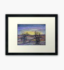 Somber Landscape Framed Print