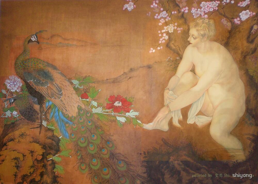 Art from China: Susana-Original Chinese painting  by shiyong