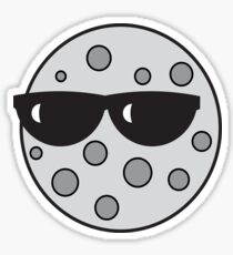 Cool Moon Sticker
