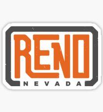 Reno, NV - Orange Wordmark #1 Sticker