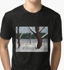 A Winter Scene Tri-blend T-Shirt