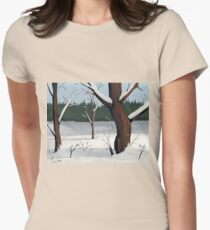 A Winter Scene Womens Fitted T-Shirt