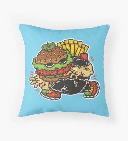 Burger Lurker Throw Pillow