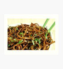Stir Fried Udon Noodles Art Print