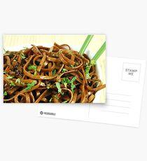 Stir Fried Udon Noodles Postcards