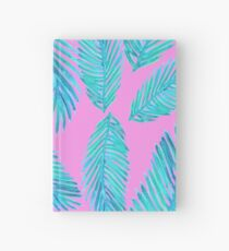 Neon Palm Leaf Pattern Hardcover Journal
