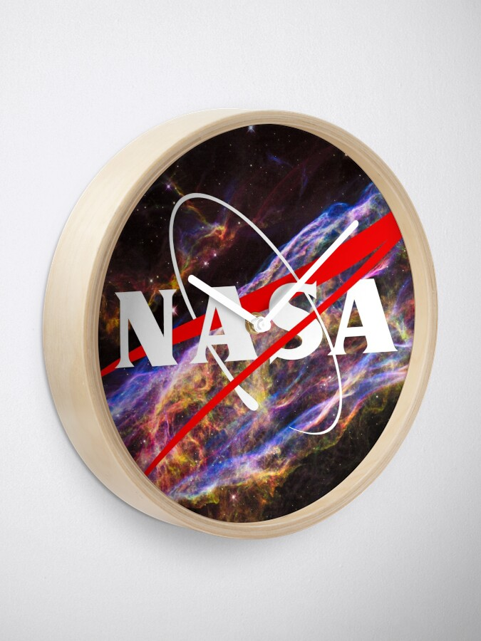 Alternate view of Nasa Meatball Logo - Hubble Space Edition Clock