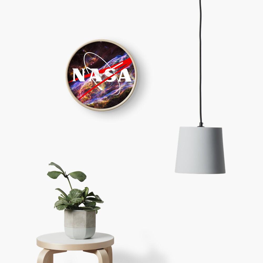 Nasa Meatball Logo - Hubble Space Edition Clock