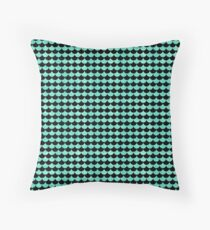 Mermaid Scales Turquoise Teal Blue Metallic Pattern Throw Pillow