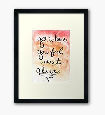 Alive Watercolor  Framed Print