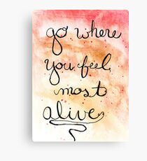 Alive Watercolor  Canvas Print