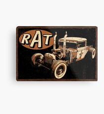 Rat Rod - Pipes Metal Print