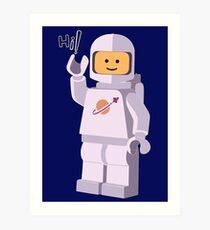 LEGO - Space Astronaut 2017 New Design T-shirt Art Print
