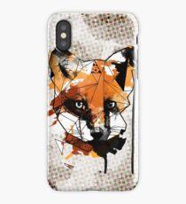 Geometric Watercolor Fox iPhone Case