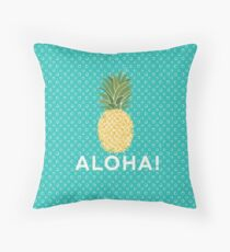 pineapple aloha Throw Pillow