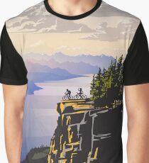 Beautiful British Columbia retro travel poster Graphic T-Shirt