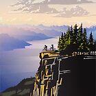 Beautiful British Columbia retro travel poster by SFDesignstudio