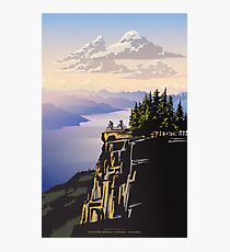 Beautiful British Columbia retro travel poster Photographic Print
