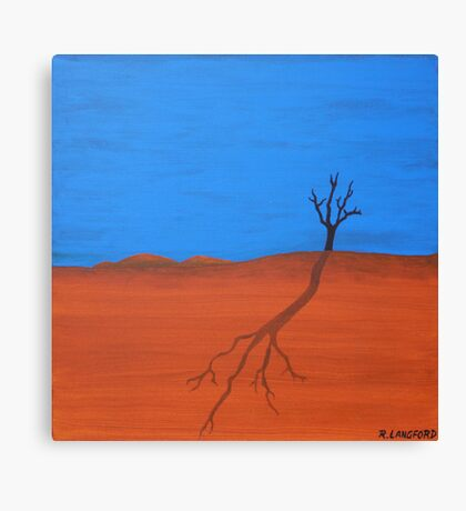 TREE SILHOUETTE (AUSTRALIAN OUTBACK) Canvas Print