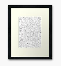 Bloomin' Empire - Black & White Framed Print