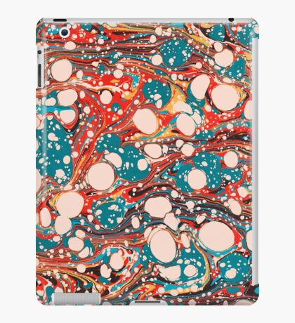 Psychedelic Marbled Paper Splash Blob iPad Case/Skin