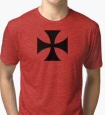 Teutonic Order, Iron Cross Tri-blend T-Shirt