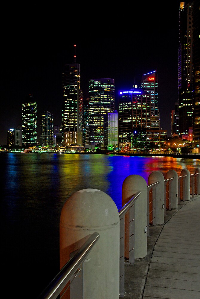 Brisbane at Night by Fiona Law