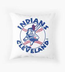 cleveland indians Throw Pillow