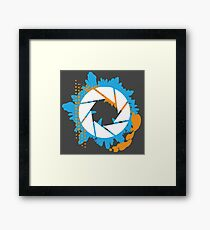 Portal - Abstract Aperture Logo Framed Print