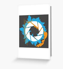Portal - Abstract Aperture Logo Greeting Card