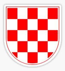 Croatian Checkerboard, Croatia, Coat of Arms Sticker