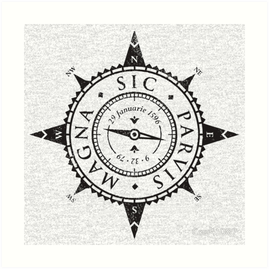 sic parvis magna art prints by conniejesi redbubble