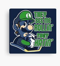 Luigi MK8 - Ridin' Dirty Canvas Print