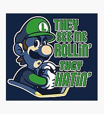 Luigi MK8 - Ridin' Dirty Photographic Print